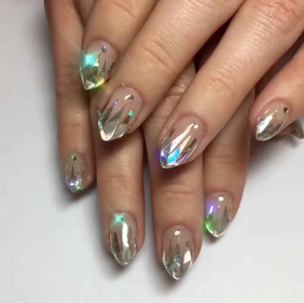 Unicorn tipped nail art popsugar beauty australia icy unicorn tip nail art looks like you dipped your fingers in magic prinsesfo Gallery