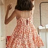 UO Hanna Scallop Babydoll Mini Dress