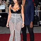 Kim Kardashian and Kanye West at the GQ Men of the Year Awards in 2014