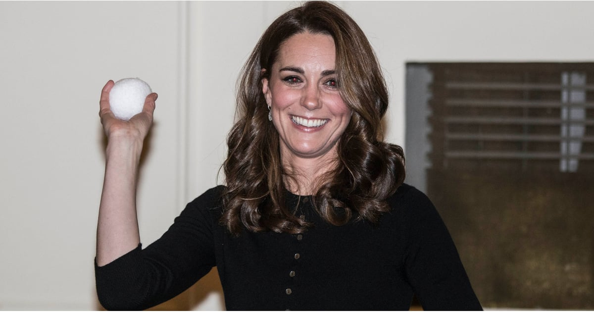 William and Kate Show Off Their Playful Sides as They Have a Snowball Fight