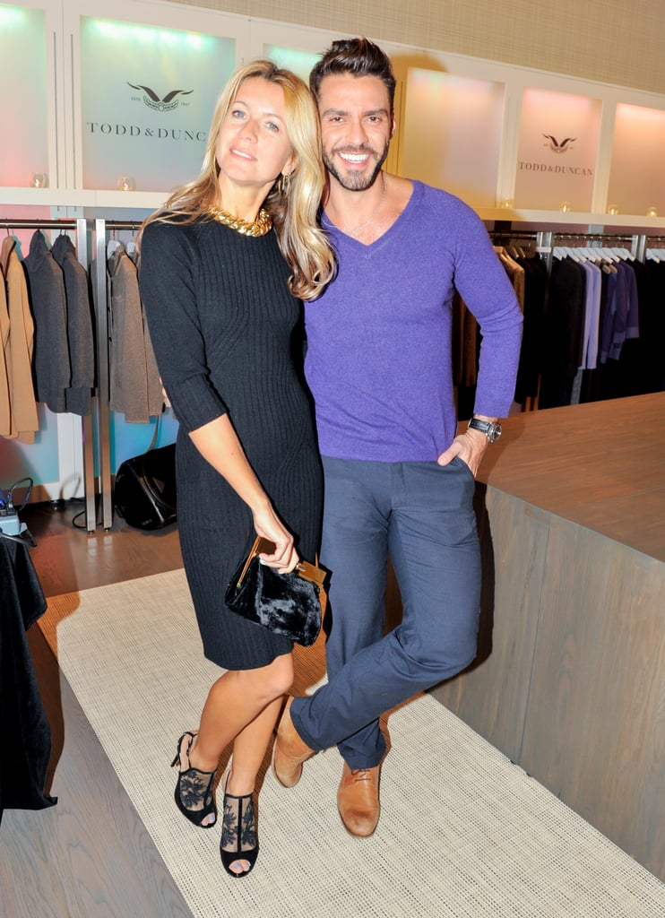 At the opening party for Todd & Duncan, Natalie Joos and Lorenzo Martone looked cute and cozy in cashmere.