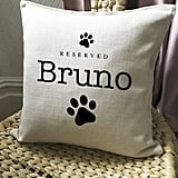 Personalised Reserved Pet Name Cushion Cover
