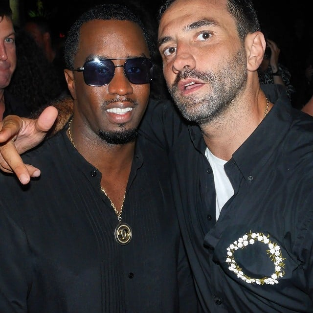 Diddy and Riccardo Tisci