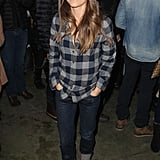 Keri Russell took on plaid flannel, cuffed denim, and a Fair Isle knit beanie in Park City.