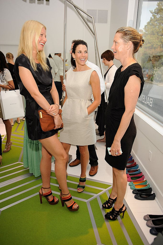 Gwyneth Paltrow and Jessica Seinfeld at the Balenciaga shop in East Hampton, dig all the awesome Balenciaga shoes!