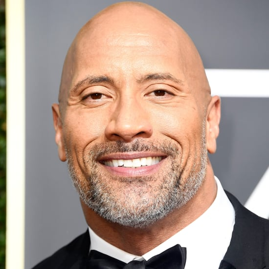 Dwayne Johnson and Simone Johnson at the 2018 Golden Globes