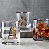 Gilded Monogram Glasses
