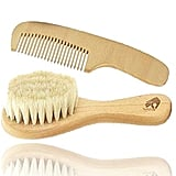 Natural Soft Newborn Baby Brush Set