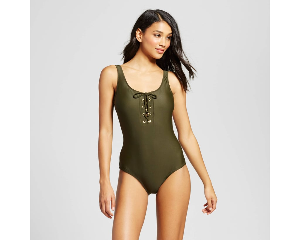 Mossimo Lace-Up One-Piece
