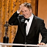 Alec Baldwin took home the award for his last year of playing Jack Donaghy on 30 Rock.