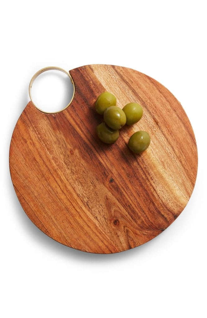 Nordstrom At Home Goldtone Handle Wooden Cheese Board Best Gifts