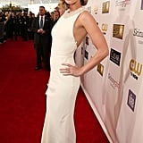 Emily Blunt struck a pose on the red carpet.