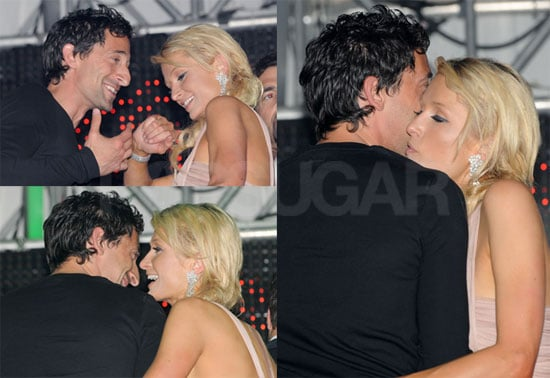 Pictures of Paris Hilton and Adrien Brody Partying in Cannes, France