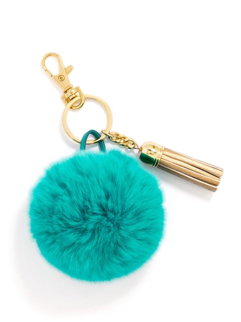 BaubleBar Fuzzy Pom Keychain ($12, originally $15)