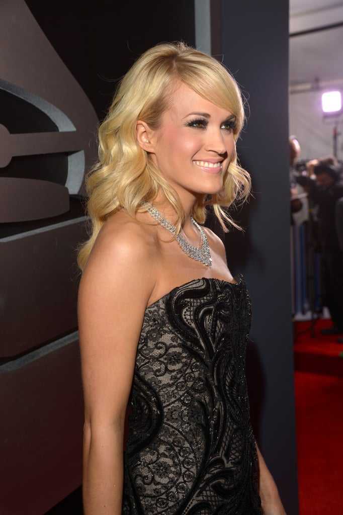 Carrie Underwood glowed at the Grammys.