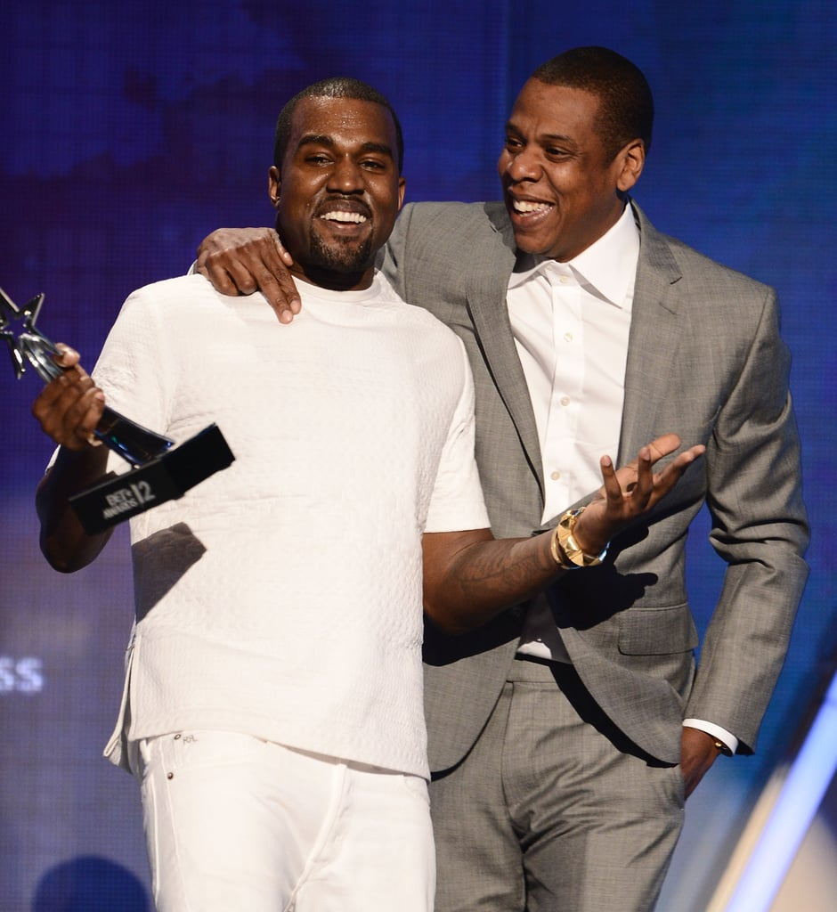 Jay-Z and Kanye West shared the stage at the BET Awards in LA.