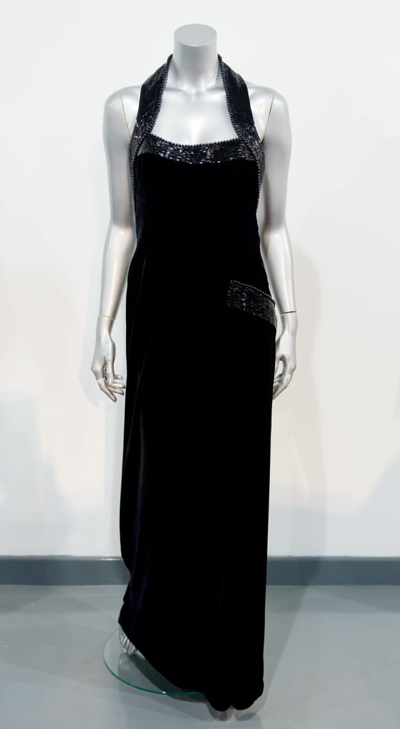 A Catherine Walker gown worn during a Vanity Fair photo shoot with Mario Testino in 1997.  Estimated price: £50,000 ($75,505) to £70,000 ($105,707)