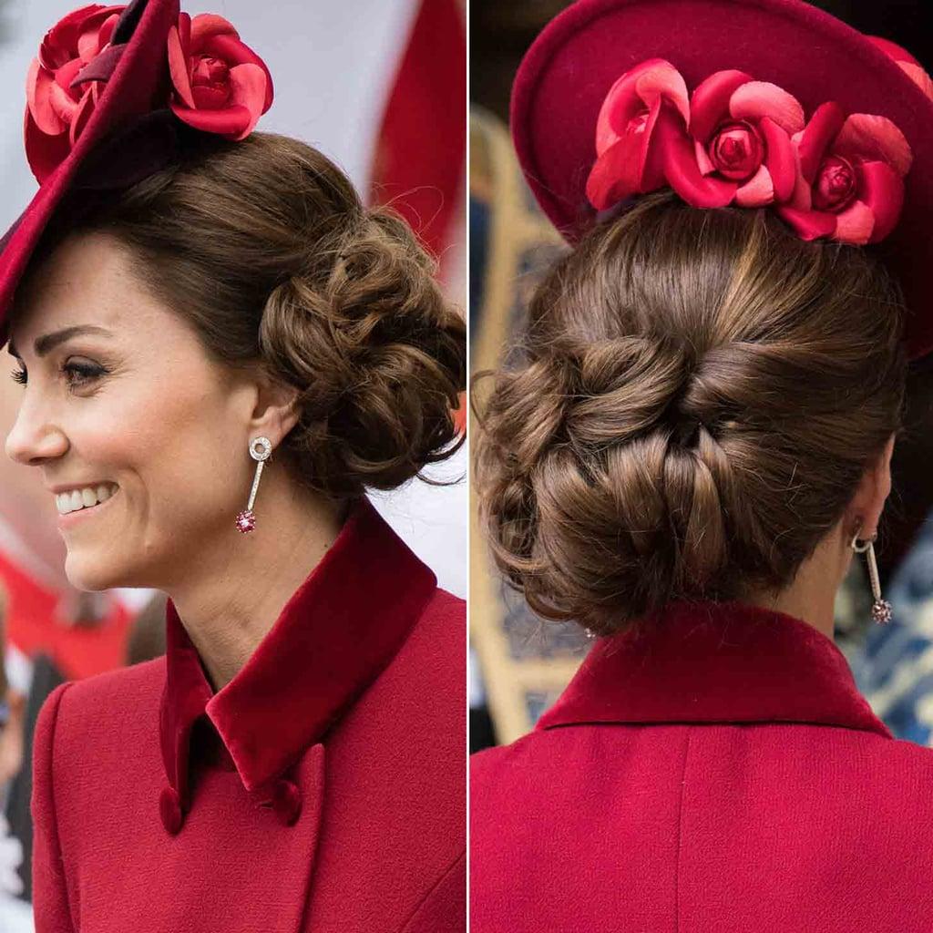 Kate Middleton's Curly, Side-Swept Updo, 2020