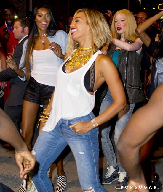 Beyoncé Knowles showed off her dance moves.