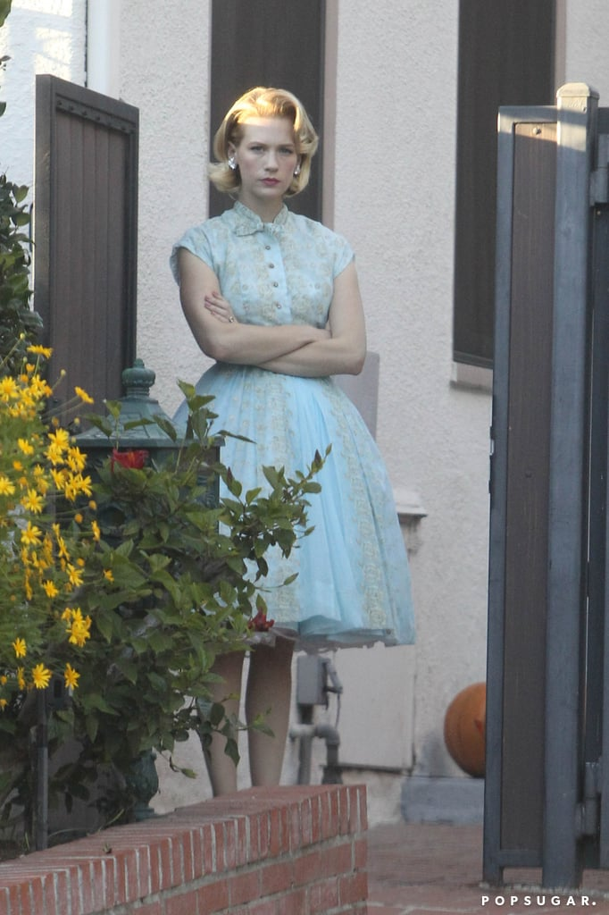 In LA, January Jones dressed up as Betty Draper for trick-or-treating.