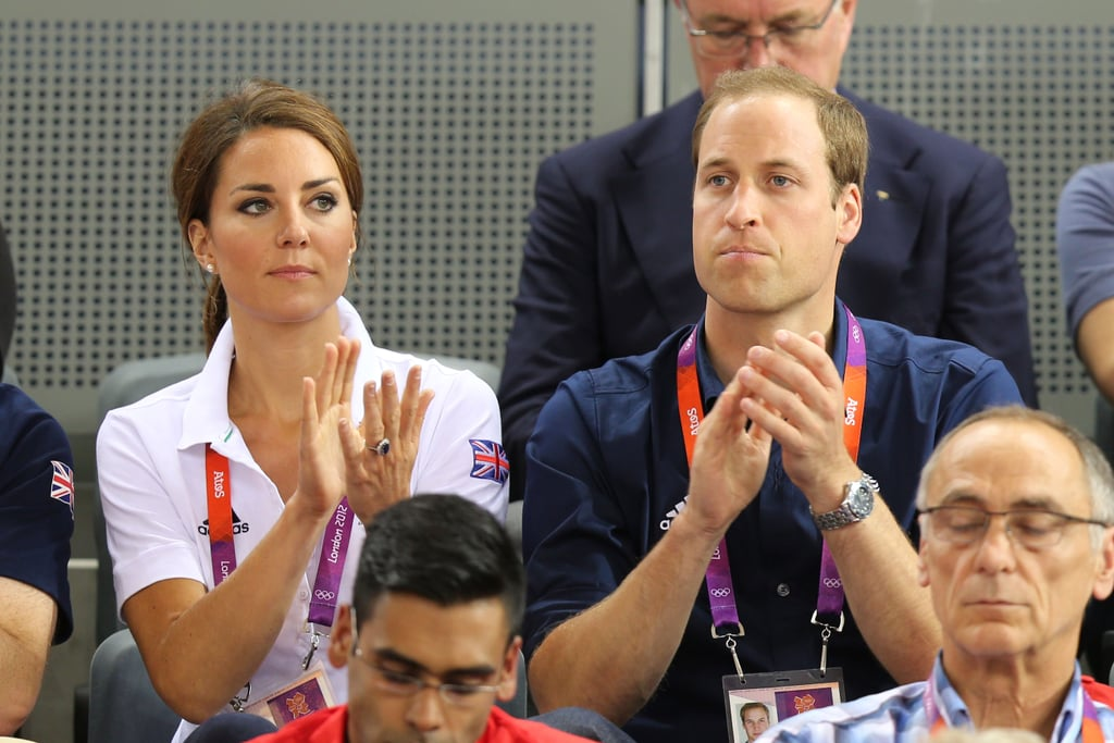 Will and Kate applauded as they watched the track cycling on day six.