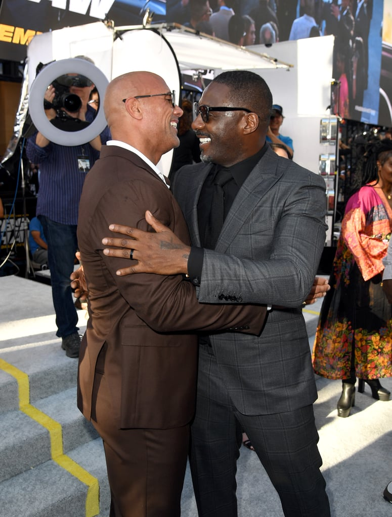 "Dwayne Johnson and Idris Elba are starring in their first film together, Hobbs and Shaw, and I'm just wondering what the hell took so long? Not only are both actors incredibly sexy (they've both been People's Sexiest Man Alive, FYI), but you can just tell they have great chemistry. In fact, Idris recently gushed to E! News about how wonderful it was to work alongside Dwayne and Jason Statham in the movie. ""I really enjoyed it,"" he said. ""I think Dwayne and Jason are kick-ass in the movie. They've very funny and I hope my little contribution works."" So, does this mean we can expect them to team up for another film? Fingers crossed! While I put that out into the universe, see some of Dwayne and Idris's best moments together before Hobbs and Shaw hits theatres on Aug. 2.       Related:                                                                                                           Dwayne Johnson on Bringing Hobbs and Shaw to Life at the Expense of Fast 9: ""I Needed More Juice"""