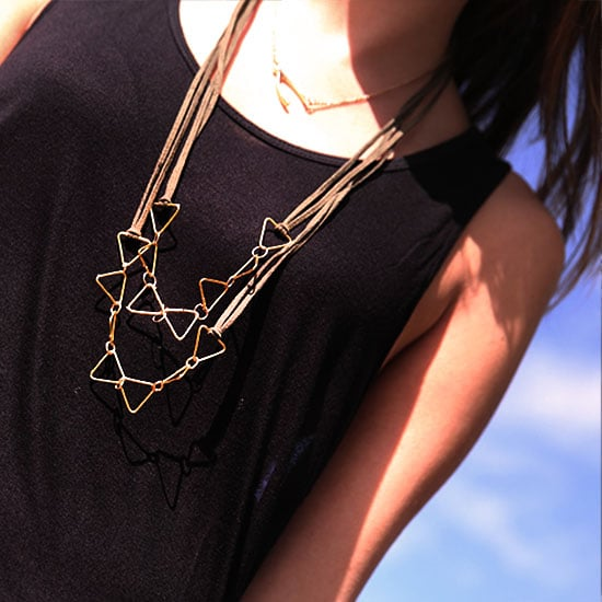 Get Creative With This DIY Geometric Gold Necklace