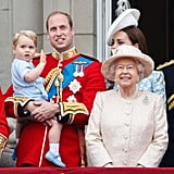 Waving to the Crowd: Prince George