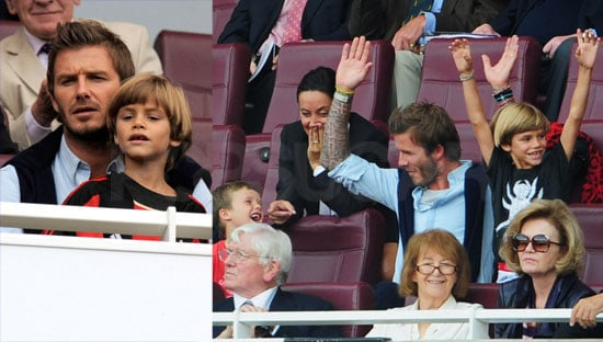 David Takes His Sons to a Soccer Match as He Reportedly Eyes a Career in Fashion
