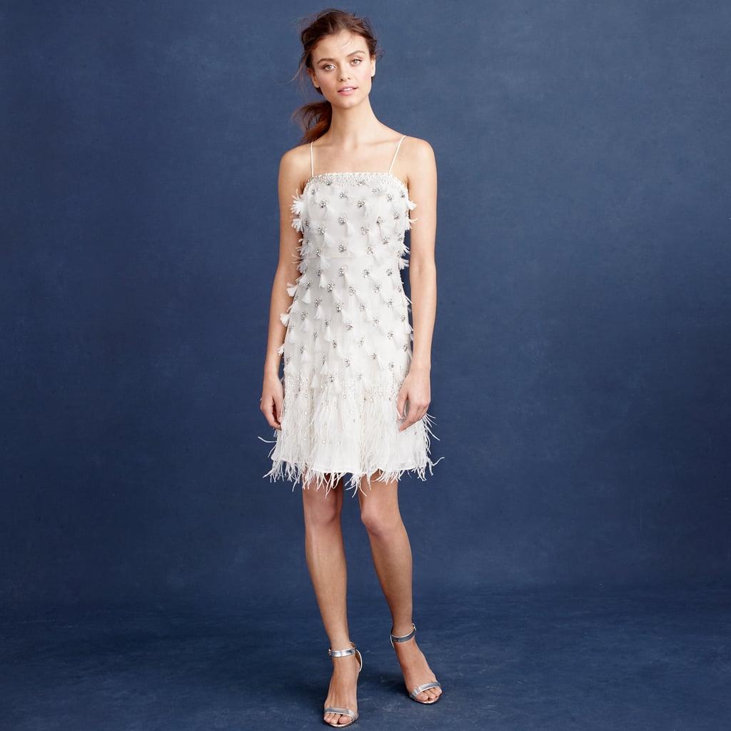 J. Crew Feather Flapper Dress ($1,200) | Wedding Outfit Ideas ...