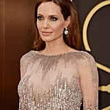 Angelina Wore Stunning Earrings Designed by Procop to the 2014 Oscars