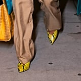 Priyanka Chopra Yellow Snakeskin Pumps From Aldo