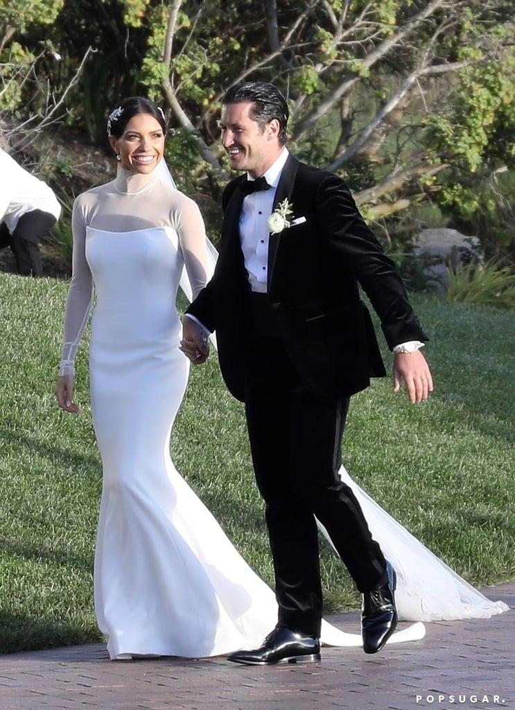 Jenna Johnson's High-Neck Wedding Dress