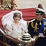 Prince Charles and Princess Diana rode through crowds in a carriage after their 1981 wedding at St. Paul's Cathedral.