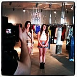 Behind the scenes with FabSugar TV host Allison McNamara as she shoots music festival styling tips with H&M.