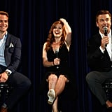Isla Fisher, Alec Baldwin, and Chris Pine attended a Q&A session for Rise of the Guardians.