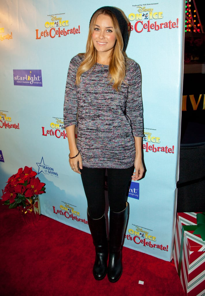 A casual Lauren Conrad arrived at the Starlight Children's Foundation's Disney on Ice event in LA last night. She signed autographs and skated for charity after pampering herself at a spa and hanging with a friend earlier this week. LC had the evening off to pose on another red carpet, as she enjoyed a break from working on her reality series.