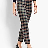 Talbots Traditional Plaid Straight Ankle Pant