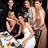 Amanda Peet, Kate Mara, Rooney Mara, Sarah Paulson, and Carrie Brownstein all posed for a fun group photo inside the 2016 show.