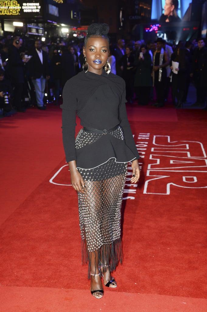 Lupita Nyong O S Dress At The Star Wars European Premiere