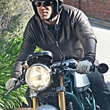 Ryan Reynolds took his motorcycle for a ride around LA.
