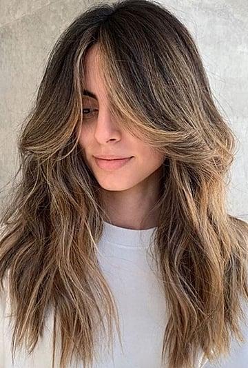 Curtain Bangs With Long Hair