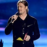 Brad Pitt at the MTV Movie Awards.