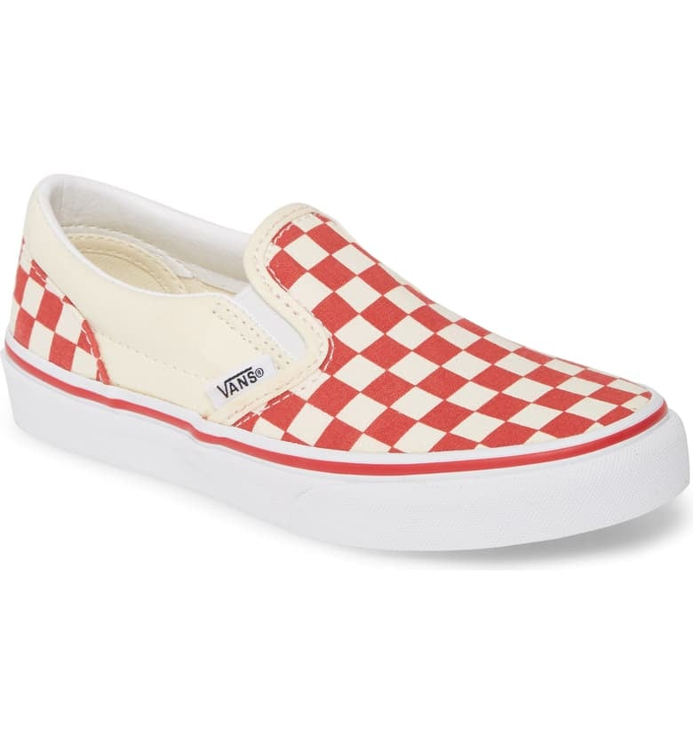 For 9-Year-Olds: Vans Classic Checkerboard Slip-On Sneakers