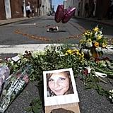A memorial for Heather Heyer.