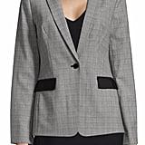 Calvin Klein Glen Plaid One-Button Blazer