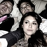 Ian Somerhalder and Nina Dobrev relaxed with a friend after a pre-Oscars party. Source: Instagram user somerhalder_ian