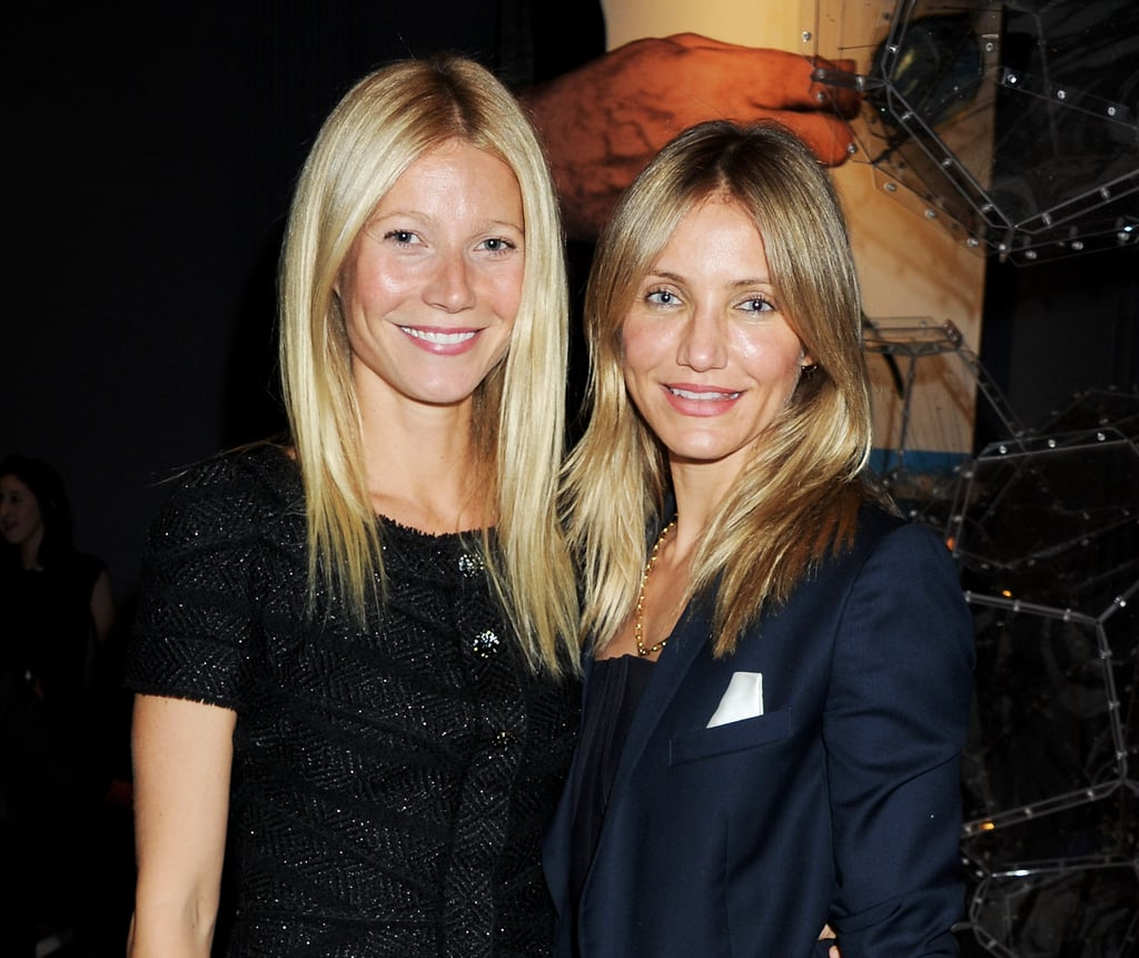 Gwyneth and Cameron both chose simple and chic outfits for the private party.