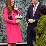 The pair was giggly as they made a public appearance in March in London.