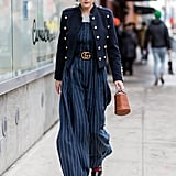 A Stripy Jumpsuit and a Military-Style Jacket